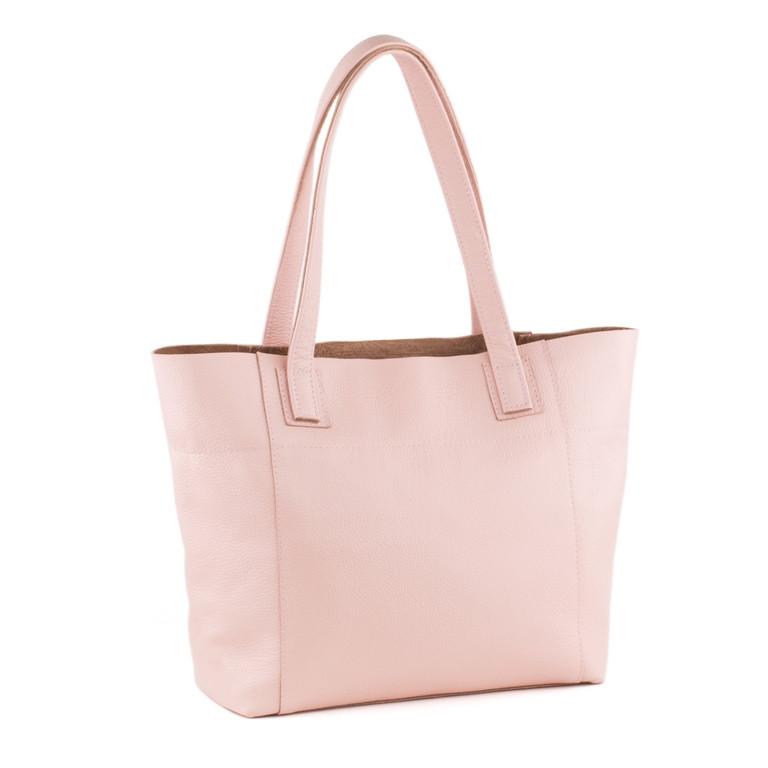 Кожаная сумка модель 3 розовый флотар