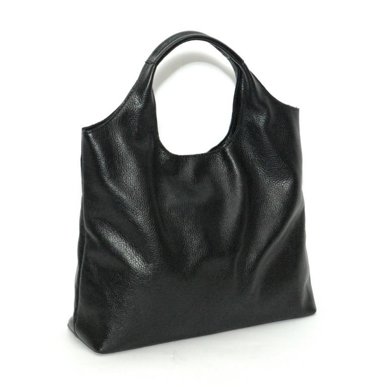 Кожаная сумка модель 15 черный флотар