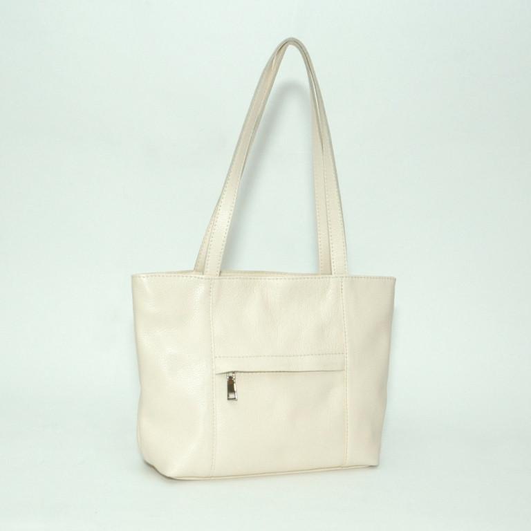 Кожаная сумка модель 30 белый флотар
