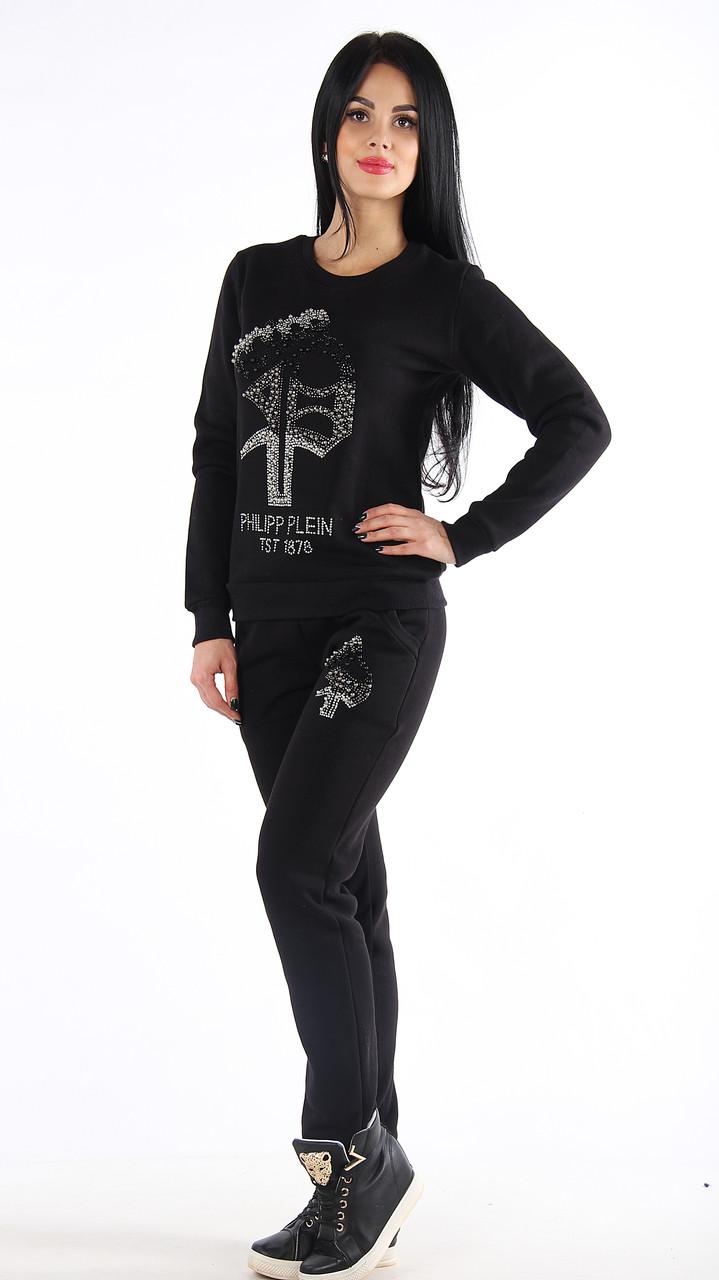 Теплый спортивный женский костюм в стиле Philipp plain