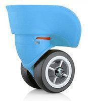 Колеса  для чемодана, диаметр 49 мм, голубые, большие