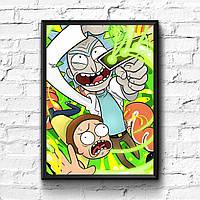 Постер с рамкой Rick and Morty #1