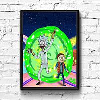 Постер с рамкой Rick and Morty #2