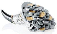 Фигурка декоративная - рог изобилия - Модель ST0114NO - золотые монеты в 10,5x5h см