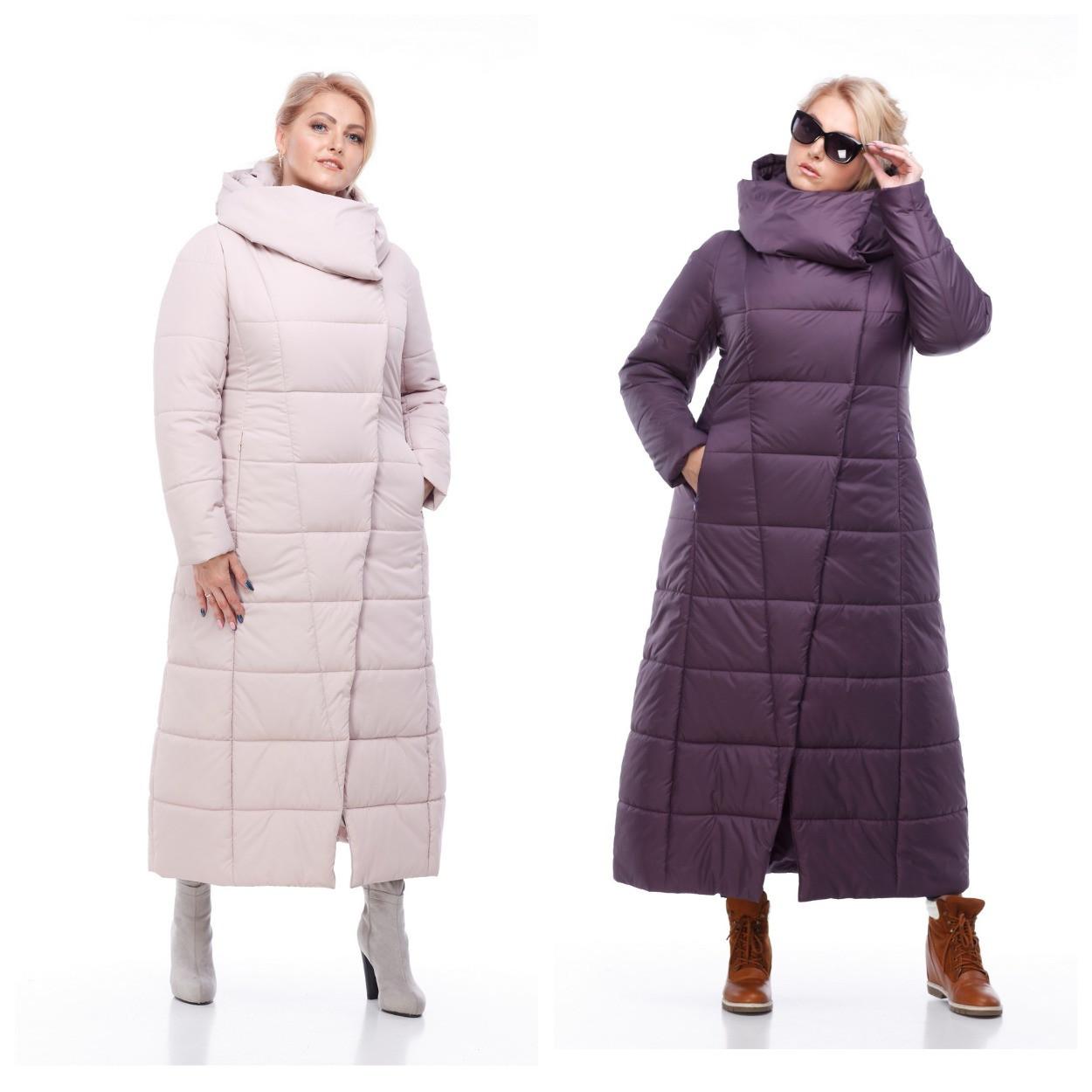 d3dcebe34b3 Женская модная зимняя очень теплая куртка пуховик длинная 42 - 54 большие  размеры - Интернет -