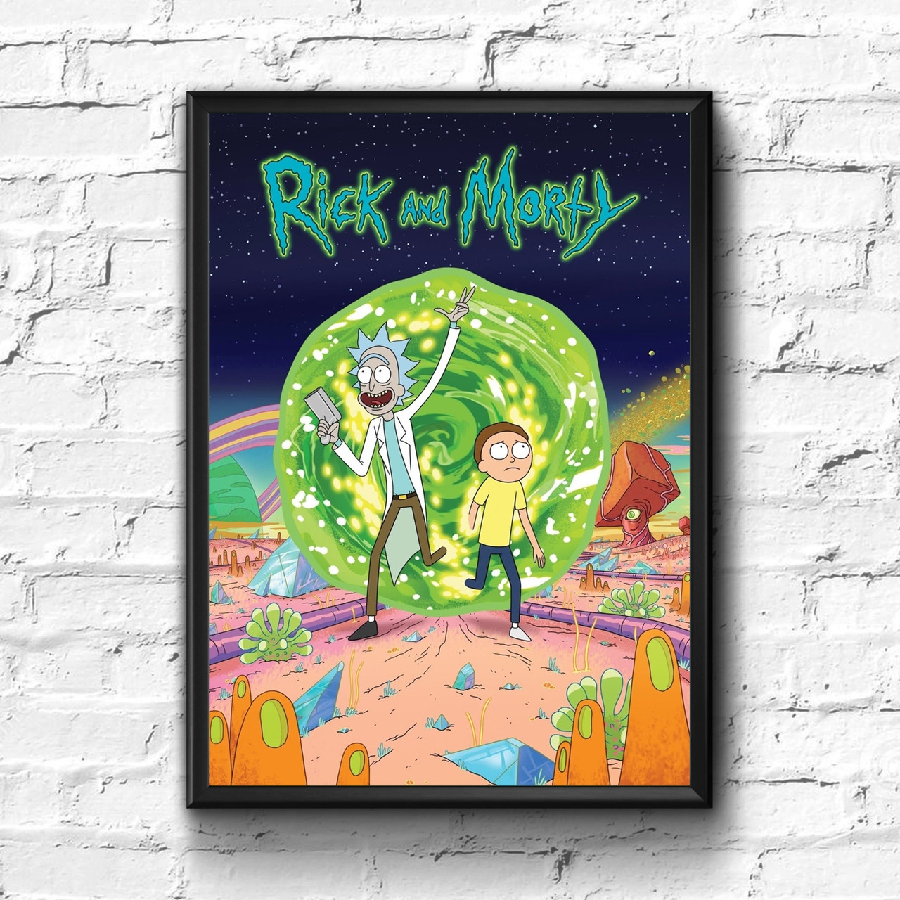 Постер с рамкой Rick and Morty #3