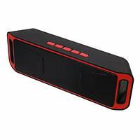 Портативная bluetooth MP3 колонка SPS SC-208 BT Красная