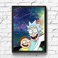 Постер с рамкой Rick and Morty #7