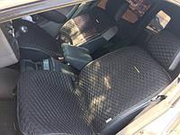 Накидки на кожаные передние сиденья Palermo Front  ткань черная/ нить серая 21752