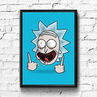 Постер с рамкой Rick and Morty #8