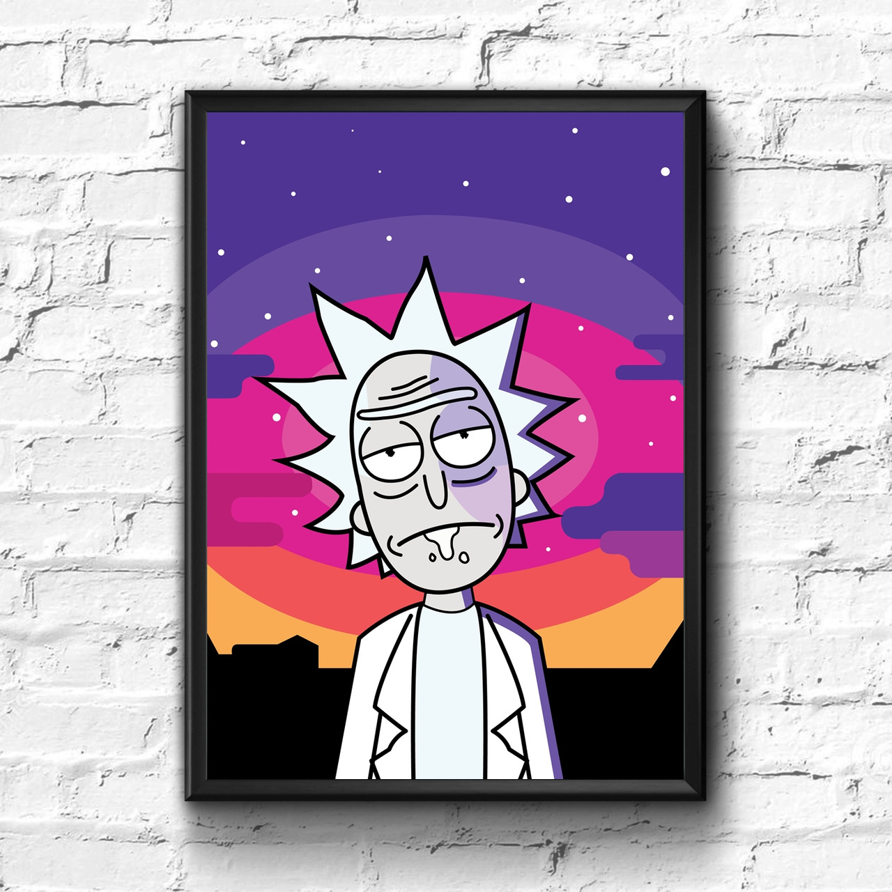 Постер с рамкой Rick and Morty #10
