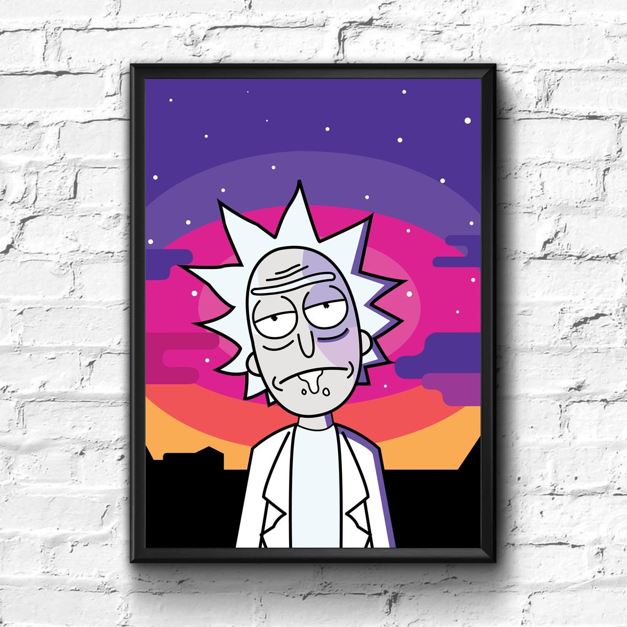 Постер с рамкой Rick and Morty #10, фото 1