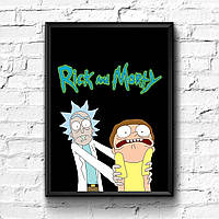 Постер с рамкой Rick and Morty #11