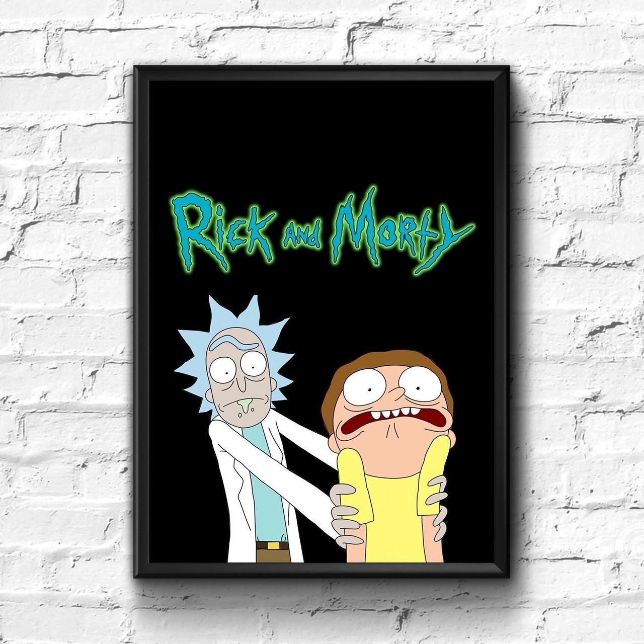 Постер с рамкой Rick and Morty #11