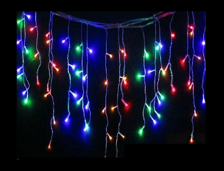 Гирлянда светодиодная LTL Sople занавес 500 led длина 16 метров разноцветная RGB + переходник