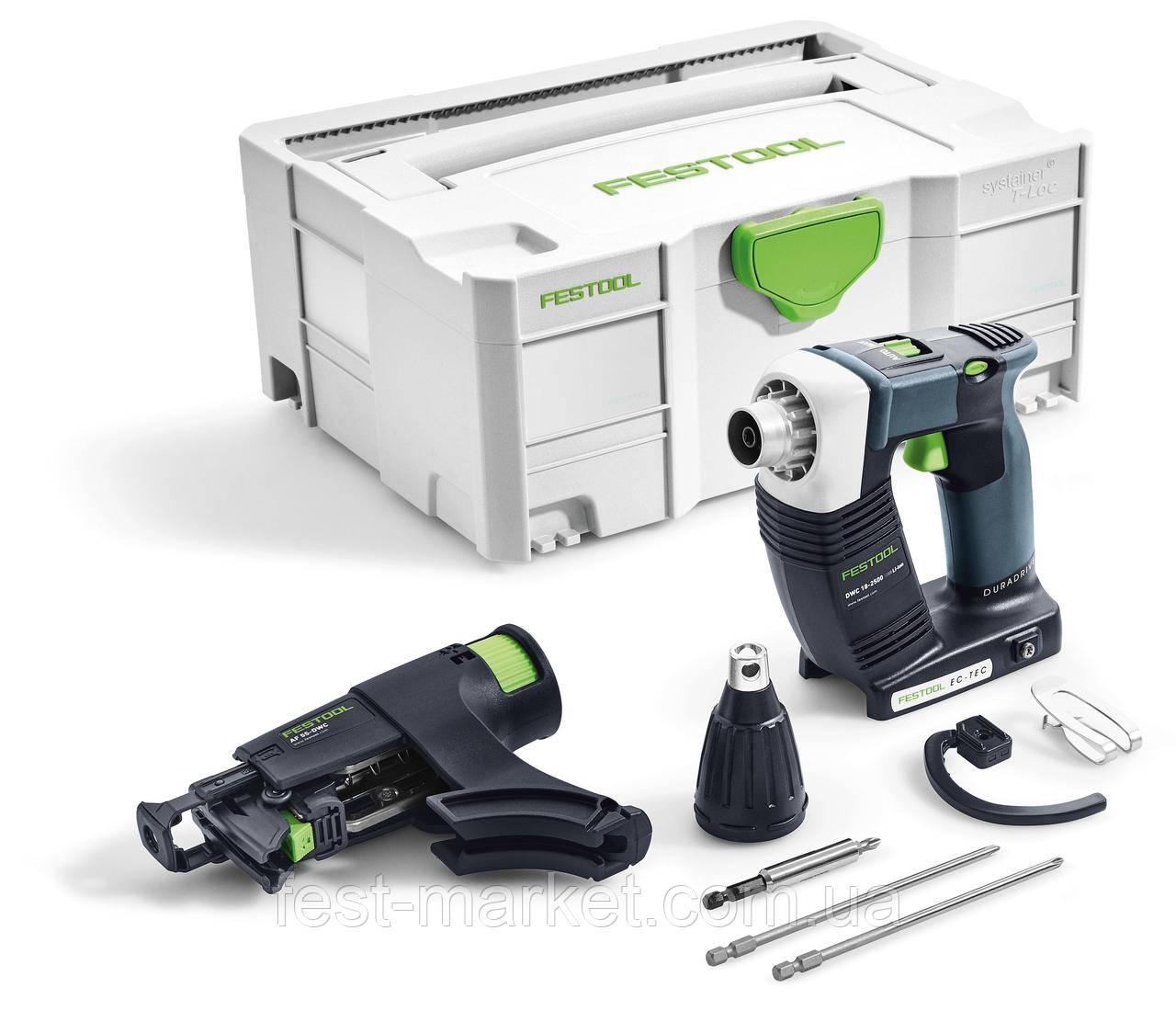 Аккумуляторный строительный шуруповёрт DWC 18-2500 Li-Basic Festool 574742