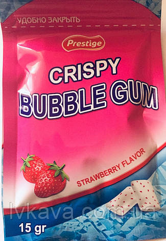 Жевательная резинка Crispy PPU клубника, 15 гр, фото 2