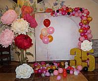 Фотозона Пионы на День Рождения