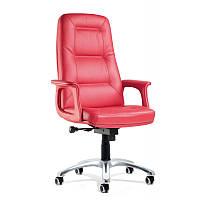Элегантное кожаное кресло для работы в офисе и кабинете - Модель 0646/BF