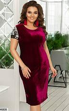 Шикарное вечернее коктельное женское платье размеры: 48,50,52,54, фото 3
