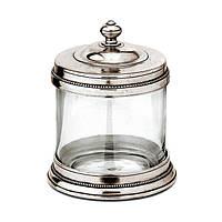 Контейнер для ванны на ватные шарики из стекла и pewteru