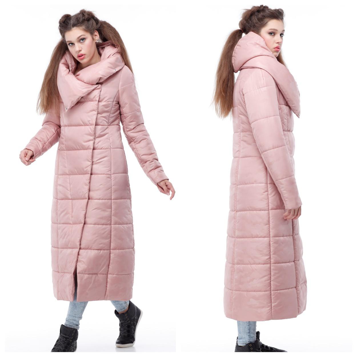 Самая модная зимняя куртка-пуховик до пяток, очень теплая размеры 42-56