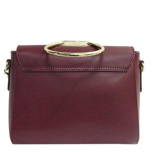 dbea59594abe ... Женская сумка Felicita 767 из натуральной кожи итальянская фабричная бордового  цвета одно отделение, фото 3 ...