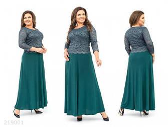 Нарядное женское платье макси большие размеры: 56,58,60,62,64, фото 2