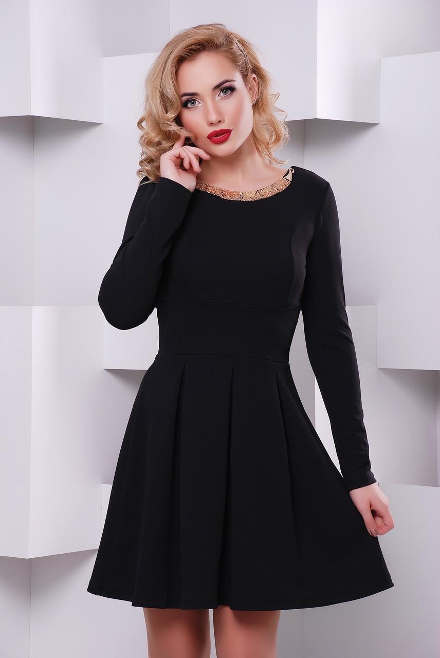 """Платье """"Кокетка""""черный"""