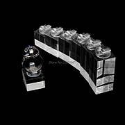 Подставки для колец (7шт в наборе) акриловые держатели квадратные