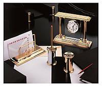 Позолоченный набор на письменный стол, - интернет-магазин Luxury Products - Часы М - 663 L