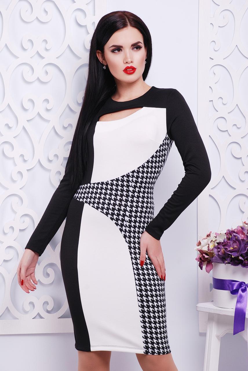 """Платье """"Герда""""черный+белый"""