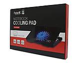 """Підставку-кулер для ноутбука HAVIT HV-F2030 (12-17""""), USB, black, регулятор оборотів, підсвітка, фото 4"""