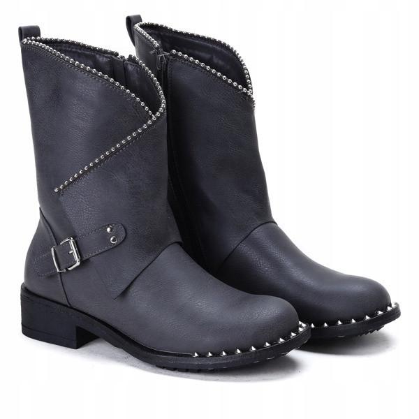 Качественные ботинки серого цвета с Польши