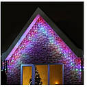 Гирлянда светодиодная LTL Sople занавес 200 led длина 6.4 метра  разноцветная RGB + переходник, фото 4