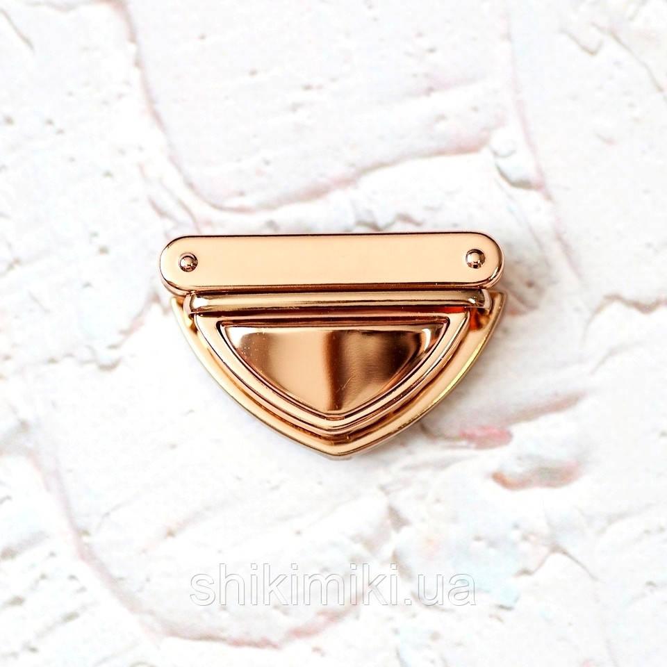Замок для сумки треугольный ZM08-3, цвет золото