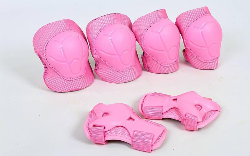 Защита детская - наколенники, налокотники, перчатки ZEL  ENJOYMENT (р-р S-L-3-15лет, розовая)