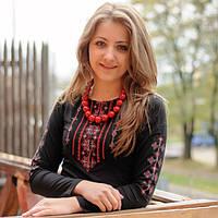 Женская футболка-вышиванка Бойковский орнамент | Жіноча футболка-вишиванка Бойківський орнамент