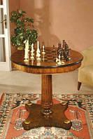 Красивый деревянный шахматный стол с выдвижным ящиком в комплекте с фишками