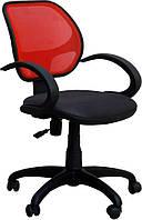 Кресло Байт/АМФ-5 сиденье Сетка черная/спинка Сетка красная, фото 1