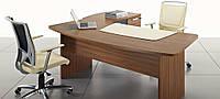 Стол деревянный для кабинета Easy - Стол деревянный с дополнительной кроватью шкафом и кожаной шайбой