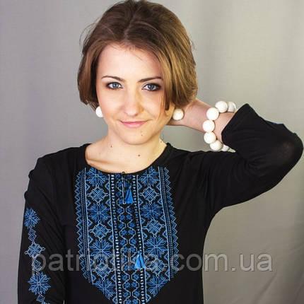 Женская вышиванка с длинным рукавом Кружево 3 | Жіноча вишиванка з довгим рукавом Мереживо 3, фото 2