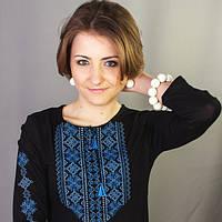 Женская вышиванка с длинным рукавом Кружево 3 | Жіноча вишиванка з довгим рукавом Мереживо 3