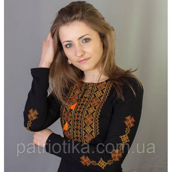 Женская вышиванка с длинным рукавом Кружево 4 | Жіноча вишиванка з довгим рукавом Мереживо 4