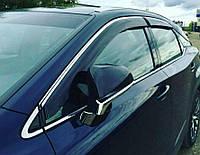 Дефлекторы окон Cobra Tuning на Ford Kuga 2013/Escape 2012 хром. молдинг