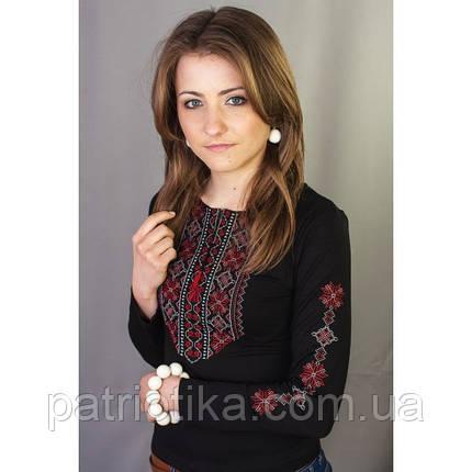 Женская вышиванка с длинным рукавом Кружево 6 | Жіноча вишиванка з довгим рукавом Мереживо 6, фото 2