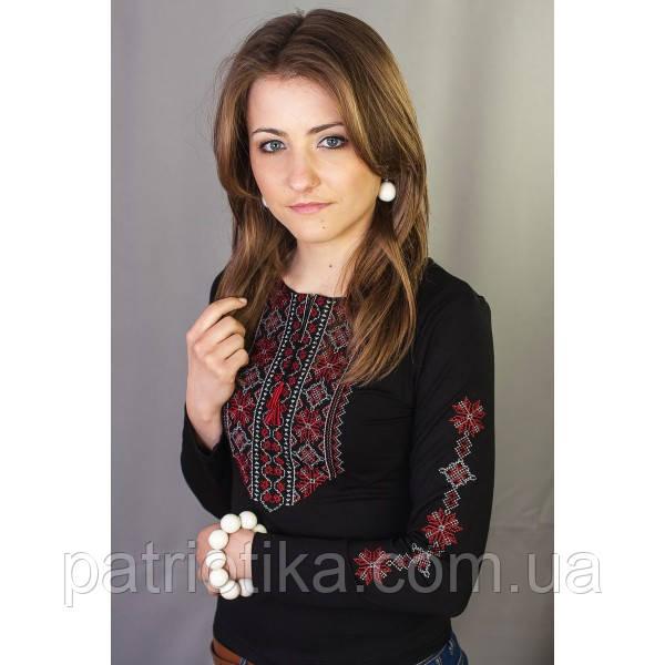 Женская вышиванка с длинным рукавом Кружево 6 | Жіноча вишиванка з довгим рукавом Мереживо 6