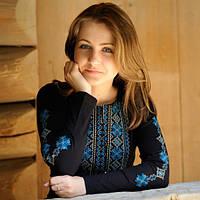 Женская вышиванка с длинным рукавом Кружево | Жіноча вишиванка з довгим рукавом Мереживо