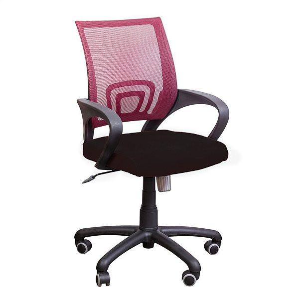 Бесплатная доставка.Кресло Веб сиденье Сетка черная/спинка Сетка красная
