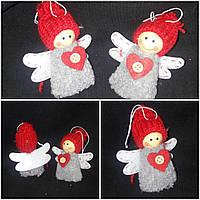 """Новогодняя подвеска на елку """"Ангел"""", мех, выс. 9 см, 35/26 (цена за 1 шт. + 9 гр.), фото 1"""